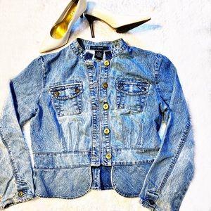 Peplum Style Jean Jacket